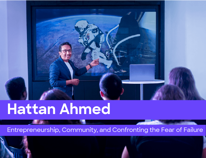 Entrepreneurship, community and confronting the fear of failure