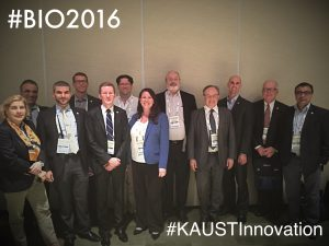 KAUST Delegation (from left to right): Charlotte Hauser , Salim Al-Babili; Loay Alfi; Darin Oelkers; Jason Schrum; Craig Kapfer; Rebekah Kapfer; Vlad Bajic; Pierre Magistretti; Dillion Fritz; Mark Crowell; Arnab Pain